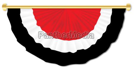 red white black bunting