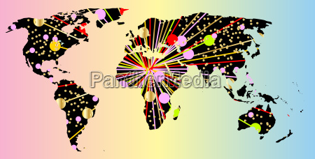 world map new year