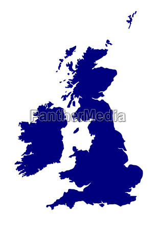 uk and southern ireland silhouette