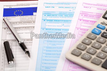 vat tax documents polish