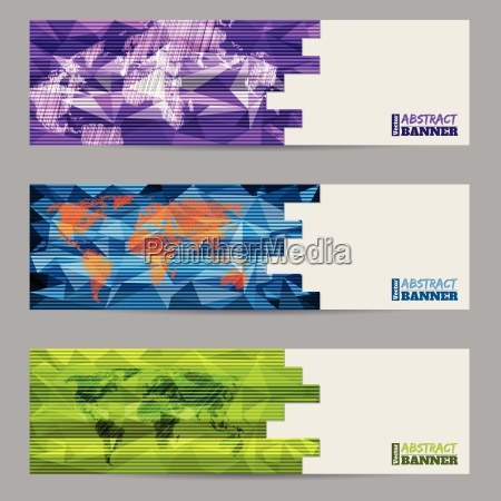 cool banner set of three with
