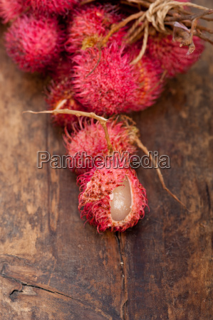 fresh rambutan fruits