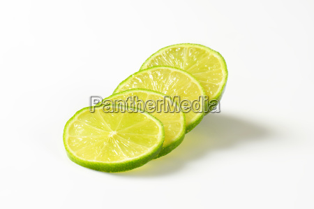 fresh lime fruit slices