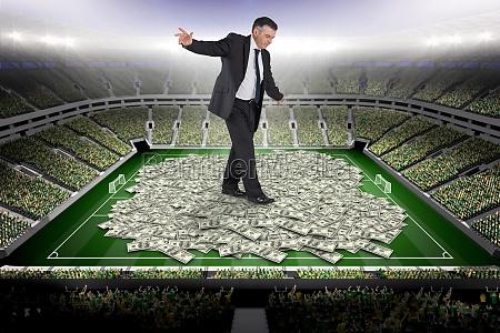 composite image of mature businessman doing