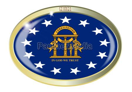 georgia state flag oval button