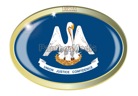 louisiana state flag oval button