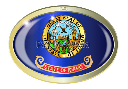 idaho state flag oval button