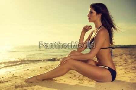 attractive woman in a sexy bikini