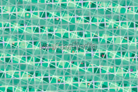 green computer generated abstract geometric pattern