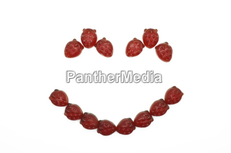 smile of gummi red strawberry jelly