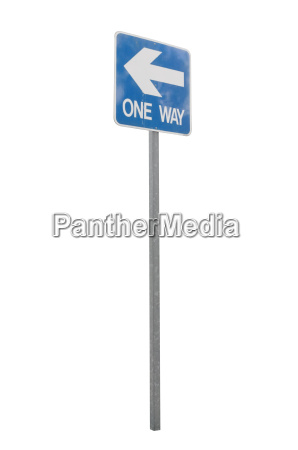 one way left sign and arrow