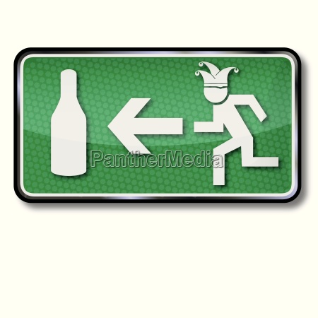 emergency exit for drunks and carnival