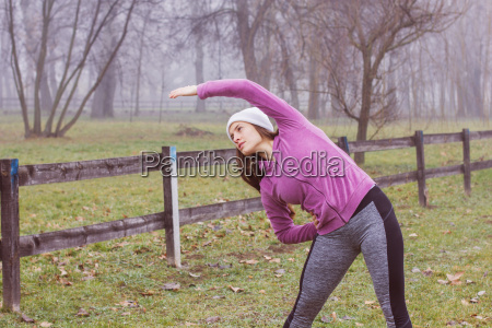 fitness sporty woman outdoor activity