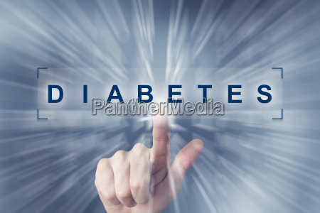 hand clicking on diabetes button