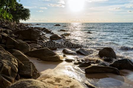 sunset, at, beach, in, thailand - 15941181