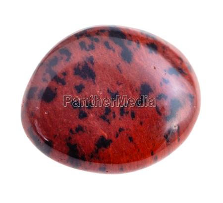 tumbled mahogany obsidian gemstone isolated