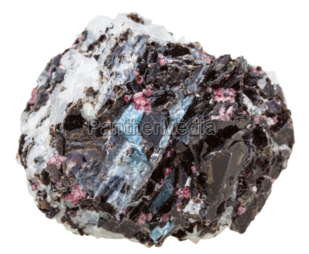 gneiss rock with various crystals mineral