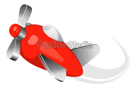 toy airplane vector illustration