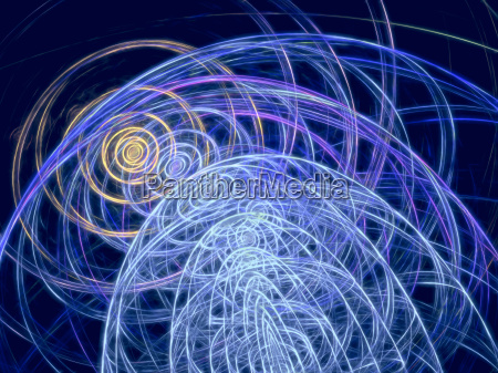 abstract digitally generated image curls and