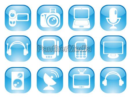 media web icons