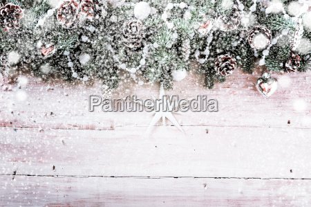 decorative christmas background with snow