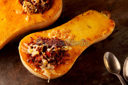 delicious spicy filling in a fall