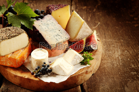 gourmet cheese platter with fresh figs
