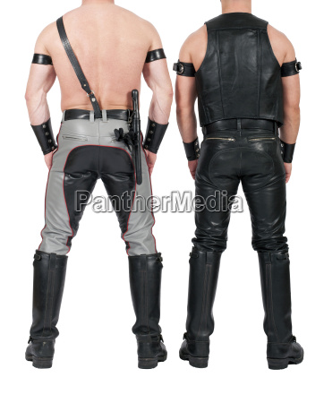 backside of two leathermen