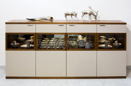 objeto muebles retrato cuerno interior plata