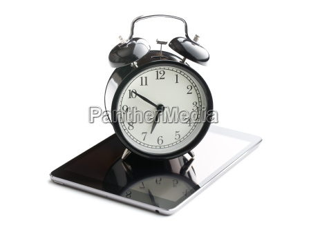 alarm clock and computer tablet