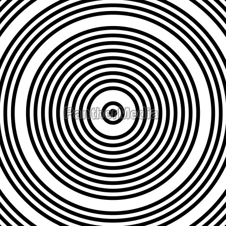 black and white abstract modern concentric