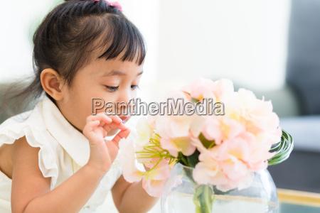 asian girl at home