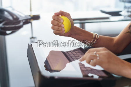 stressed office worker with anti stress