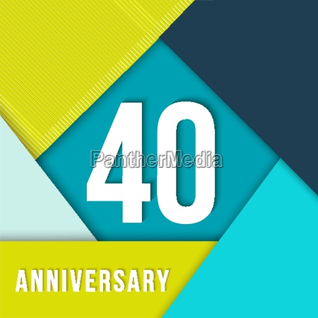 40 year anniversary material design template