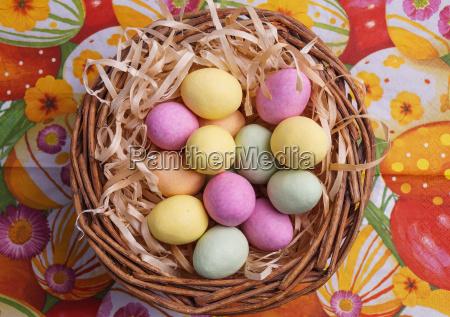 easter egg in basket