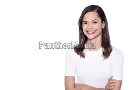 casual portrait of smiling woman