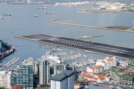 western end of runway in gibraltar