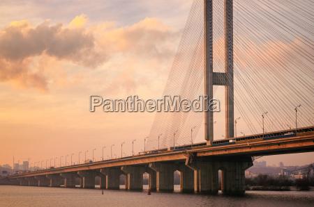 south bridge in kiev in the