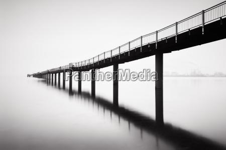 pier in wismar in winter
