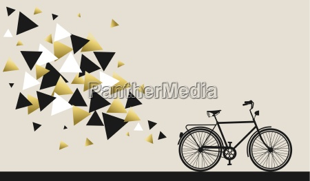 bike concept with hipster gold geometry