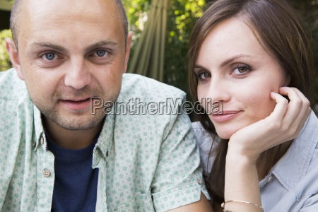 a young man and woman a