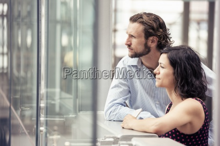 a man and woman side by