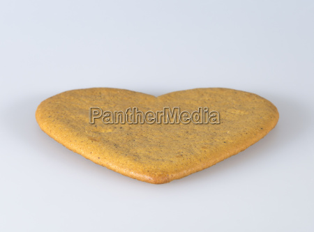 gingerbread cookie heart close up