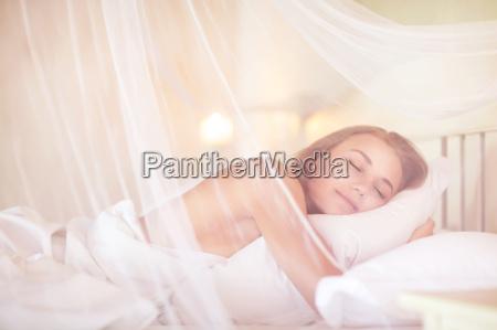 gentle female sleeping