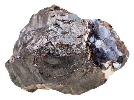 sphalerite marmatite rock isolated on white