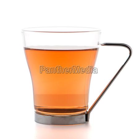 glass cup of black tea