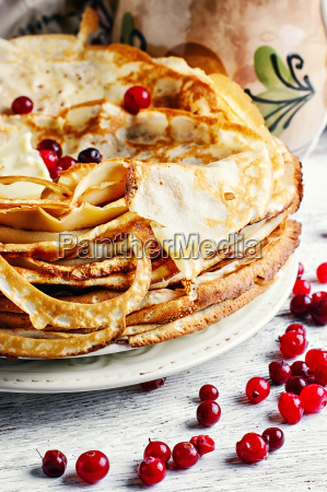 pancakes in rustic style