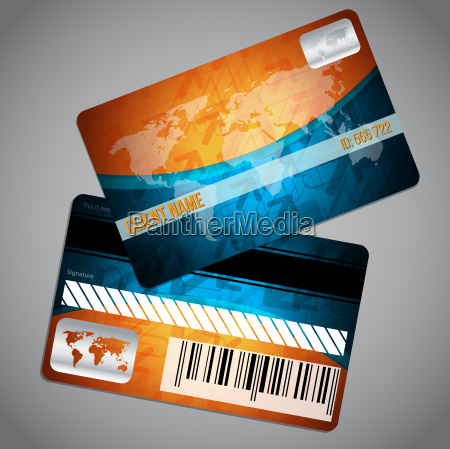 loyalty card with world map and