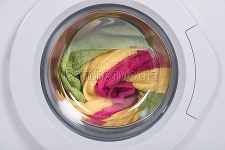washing machine full of clothes