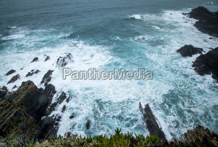 wild atlantic waves on portugals coast
